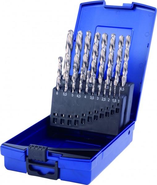HSS Spiralbohrer DIN 338 Typ N LINKS in Kunststoffkassette