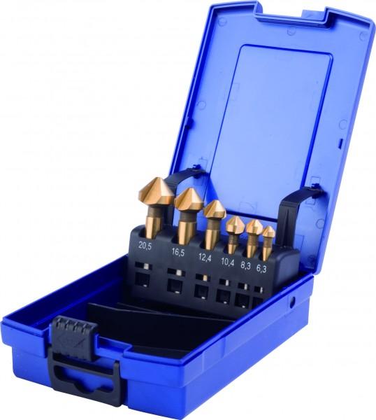 HSS-TIN Kegelsenker 90° DIN 335 Form C Set 6-teilig