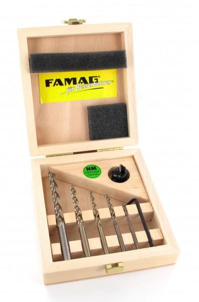Famag Holzspiralbohrer HSS-G 6-teiliger Satz im Holzkasten