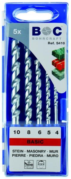 Steinbohrer HM Standard in Kunststoffkassette