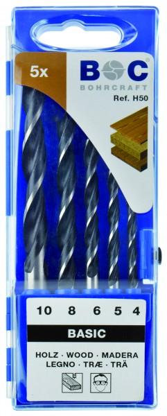 Holzspiralbohrer in Kunststoff-Kassette