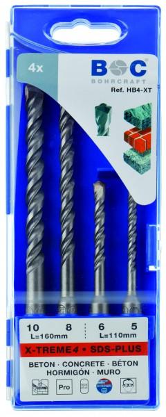 Hammerbohrer SDS-plus X-TREME4 in Kunststoff-Kassette