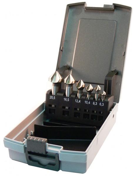 HSS Kegelsenker 90° DIN 335 Form C Set 6-teilig Bit Aufnahme