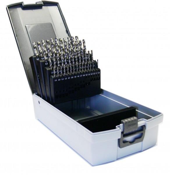 HSS-G Spiralbohrer DIN 338 in Kunststoffkassette 51-teilig
