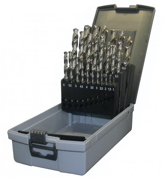 HSS-G Spiralbohrer DIN 338 in Kunststoffkassette 25-teilig